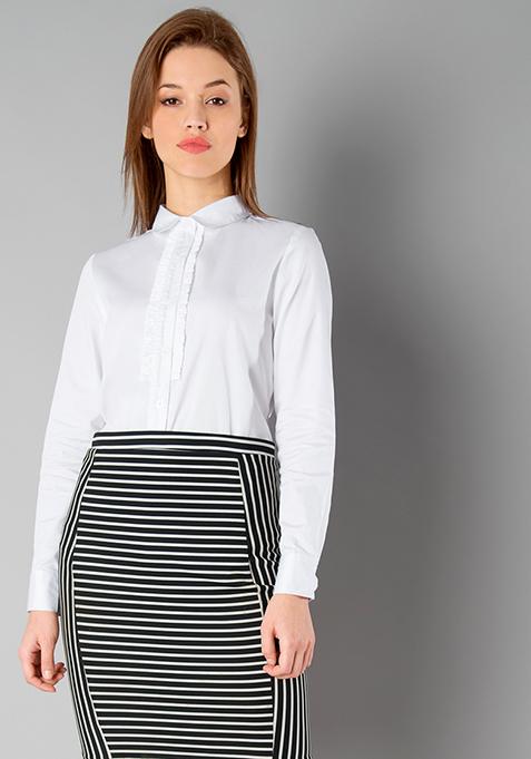 CLASSICS Ruffled Shirt - White
