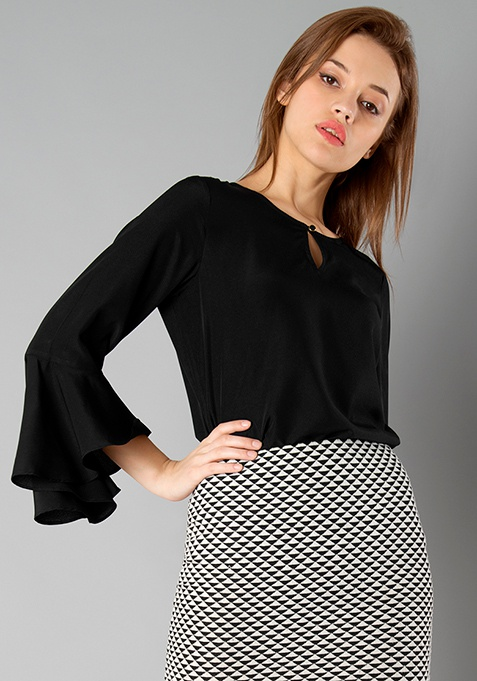 CLASSICS Bell Sleeves Top - Black