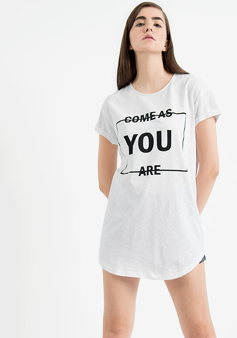 AlliaForFabAlley Oversized Tee - Come As You Are